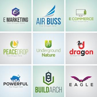 9 creatieve bedrijfslogo ontwerpsjabloon set