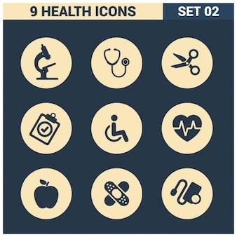 9 gezondheid icons