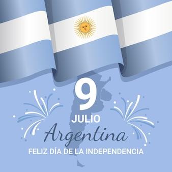 9 juli - declaracion de independencia de la argentina illustratie