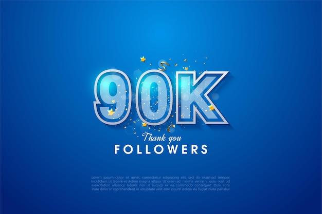 90.000 volgers met een aantal beperkt door wit en blauw garnizoen.