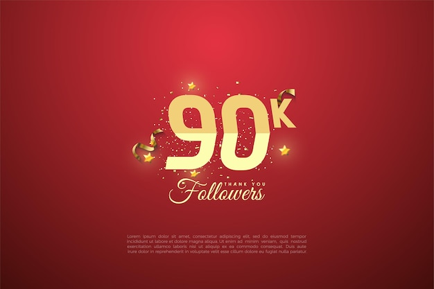 90.000 volgers met getallen.
