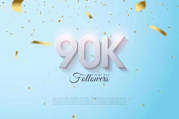 90.000 volgers met numerieke illustraties.