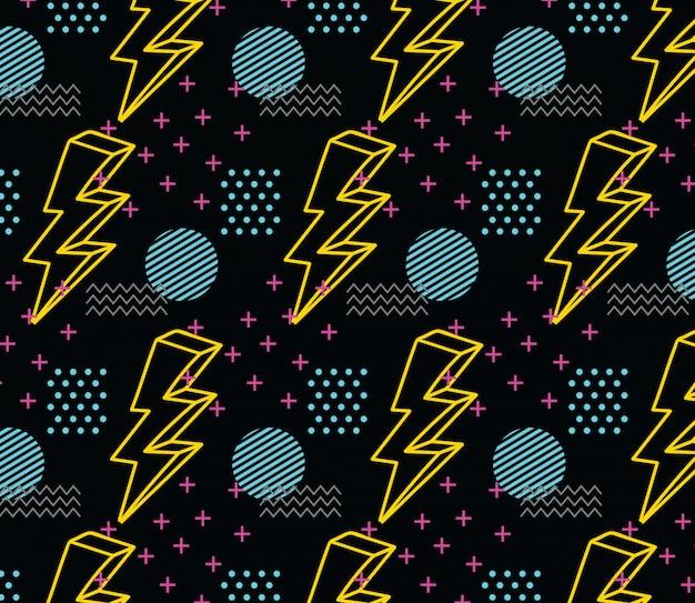90's stijl naadloos patroon
