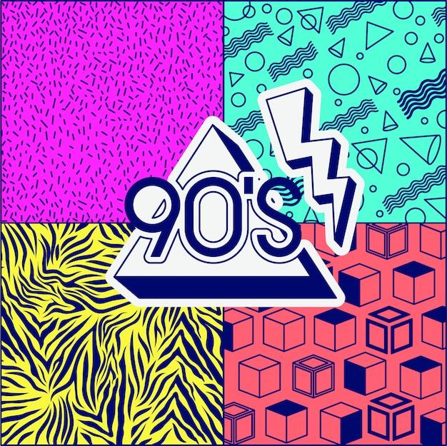 90s decennium label retro
