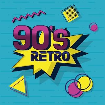 90s retro-kaart ontwerp