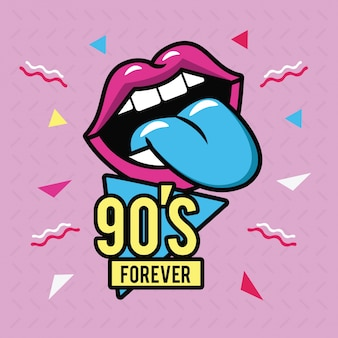 90s voor altijd ontwerp