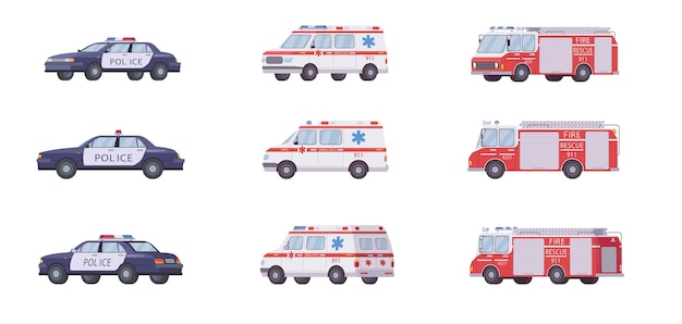 911 hulpverleningsvoertuigen ingesteld