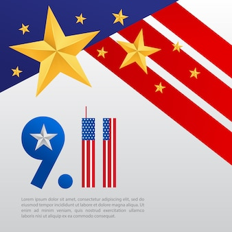 911 poster met een ster en de rang van generaal in de verenigde