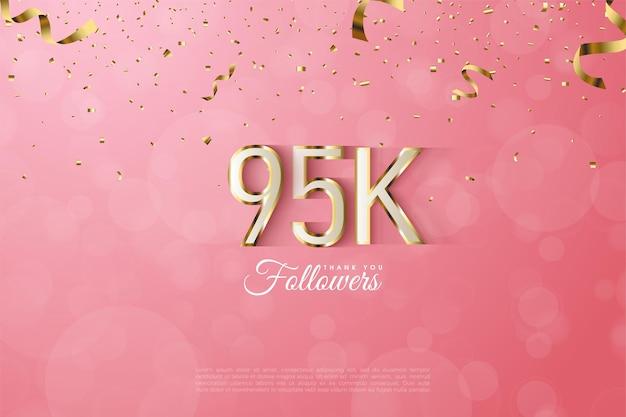 95.000 volgers omzoomd met luxe gouden cijfers