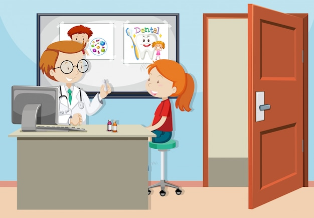 A girl consult with doctor