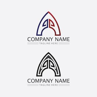 A letter en lettertype logo a sjabloon vector pictogram illustratie ontwerp