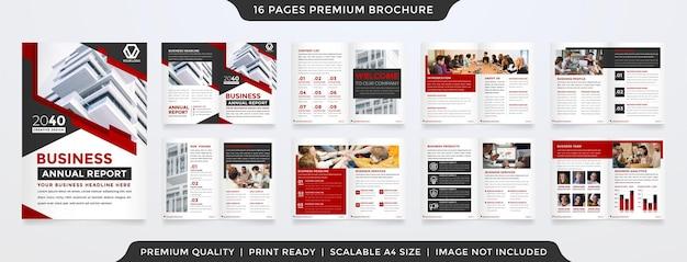 A4 brochure sjabloon premium vector