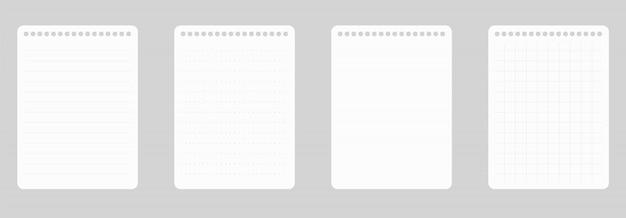A4 kladblok lijn papier