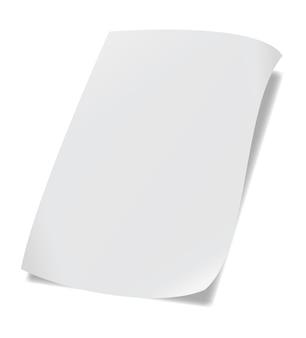 A4-papier met schaduw
