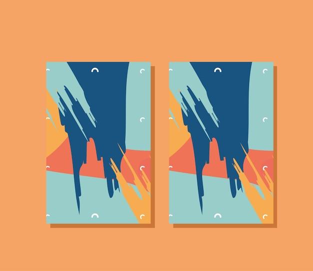 A4 posters mockups ontwerp van huisstijl sjabloon en branding thema