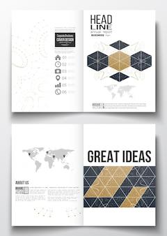 A4-sjablonen voor brochure, flyer, brochure, rapport
