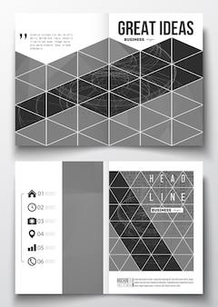 A4-sjablonen voor brochure