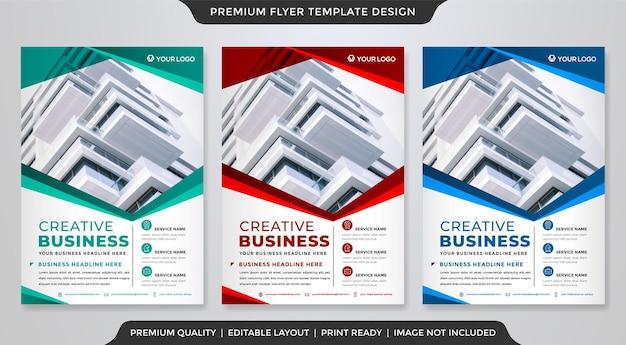 A4 sjabloonontwerp voor zakelijke flyers met moderne en