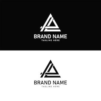 Aal letters eerste logo ontwerp vector