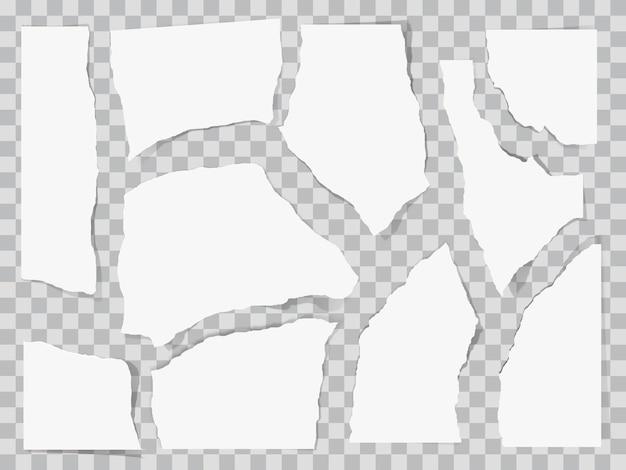 Aan stukken gescheurd papier.