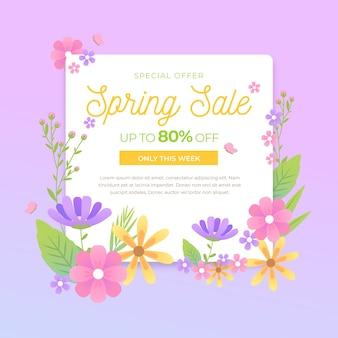 Aanbieding plat design voorjaarsverkoop
