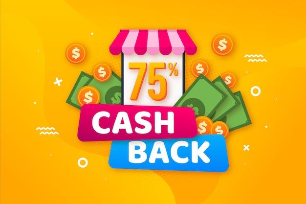 Aanbieding voor cashback conceptthema