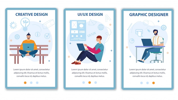Aanbieding voor mobiele paginaset computer designer service