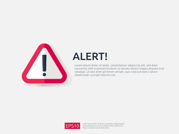 Aandacht waarschuwing waarschuwing teken banner