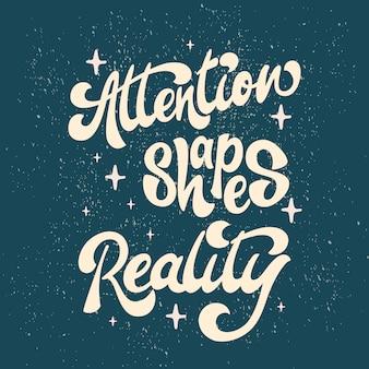 Aandachtsvormen realiteit - belettering
