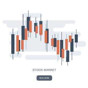 Aandelenmarkt diagram logo