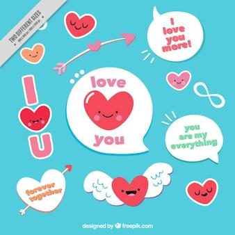 Aangenaam harten met tekstballonnen