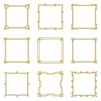 Aangepast oneindig vierkant lijnkader