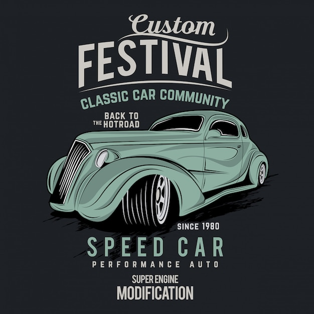 Aangepaste auto festival