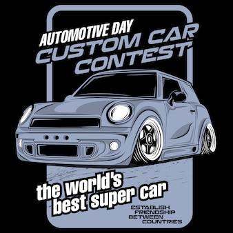Aangepaste auto wedstrijd