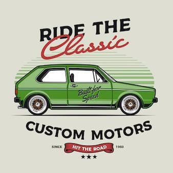 Aangepaste klassieke auto