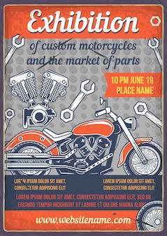 Aangepaste motorfiets poster
