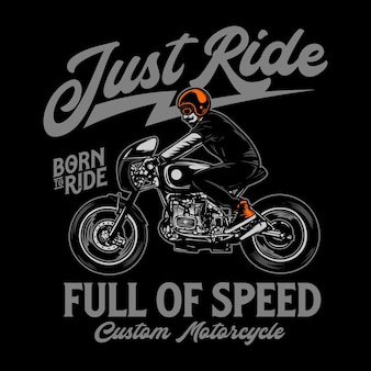 Aangepaste motorfiets tshirt afbeelding