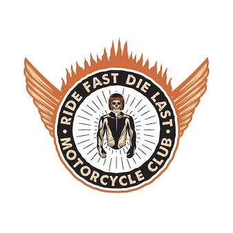Aangepaste motorfiets vintage badge embleem