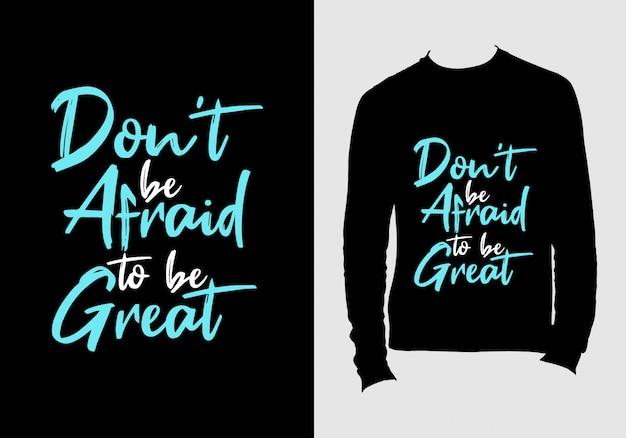 Aanhalingstekens belettering. hand getekend typografie t-shirt design