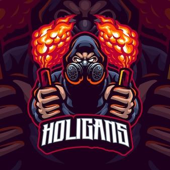 Aanhangers mascotte logo sjabloon