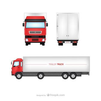 Aanhangwagen vrachtwagen