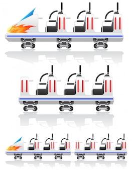 Aanhangwagens voor achtbanen vectorillustratie