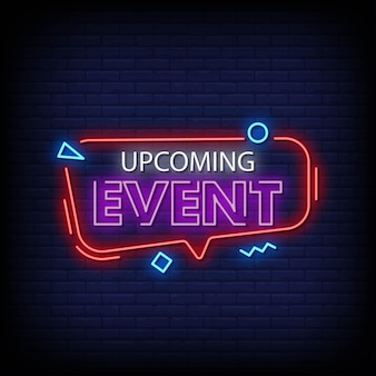 Aankomende event neon signs style text