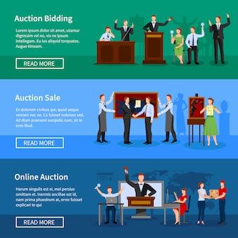 Aankomende online veilingen bieden en verkoopinformatie