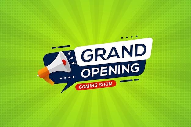 Aankondiging van de grote opening