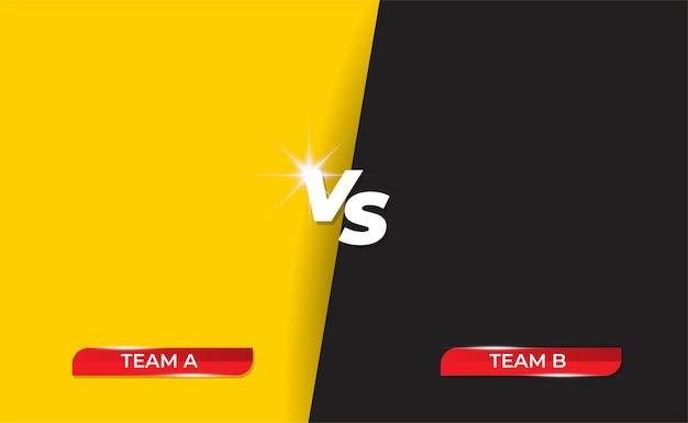 Aankondiging van een gevecht met twee vechters of teamframe.