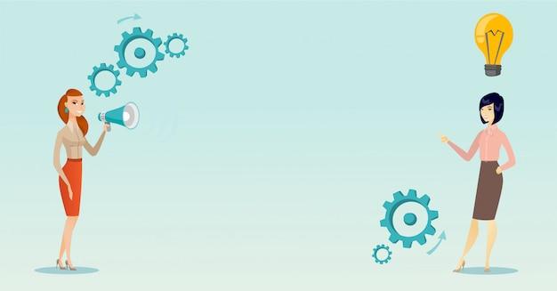 Aankondiging voor bedrijfsidee vectorillustratie