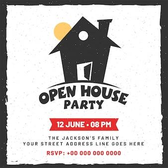 Aankondiging voor open house-affiche