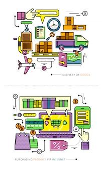 Aankoop, levering van product via internet