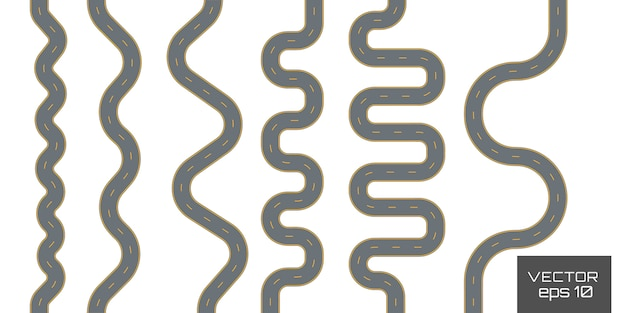Aannemerswegen in isometrische weergave de rijbaan